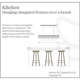 Hanging fixture over a bench