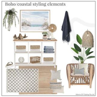 Boho Coastal styling elements