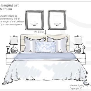 2 Art above a bed