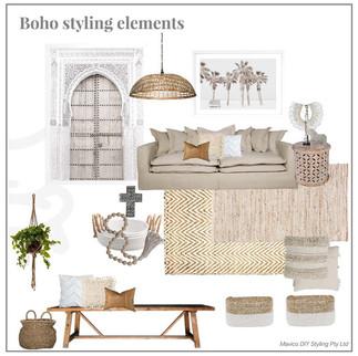 Boho styling elements
