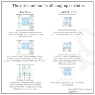 Curtains do's and dont's