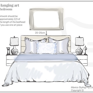 1 Art above a bed