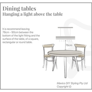 Dining table hanging elongated light