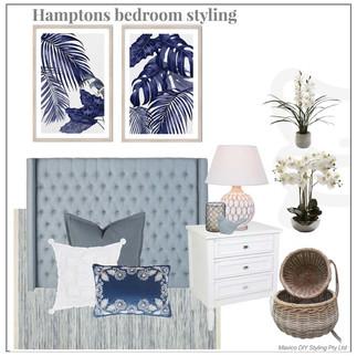 Hamptons bedroom styling