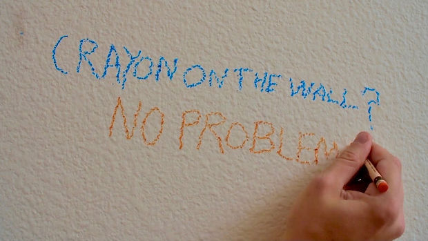 crayon on the wall