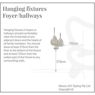 Hanging fixture foyer