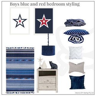 Boys blue and star bedroom styling