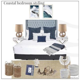 Coastal bedroom styling