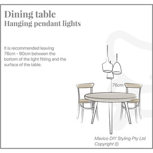 Dining table hanging pendants
