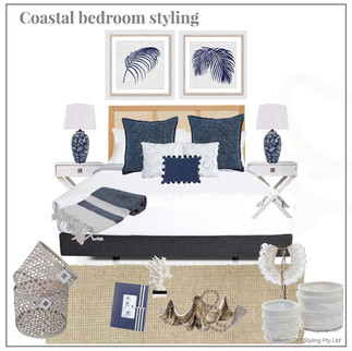Coastal bedroom styling 1