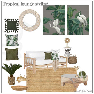 Tropical lounge styling