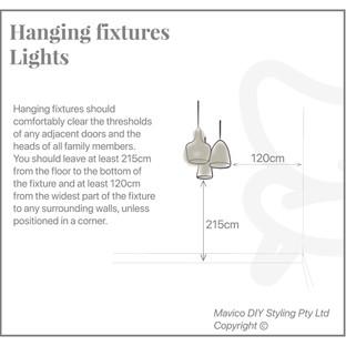 Hanging fixture lights
