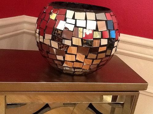 Multicolored mosaic vase