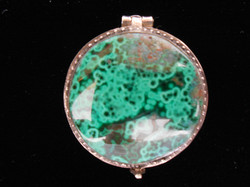 MALACHITE w/ CHRYSOCOLLA - LOCKET