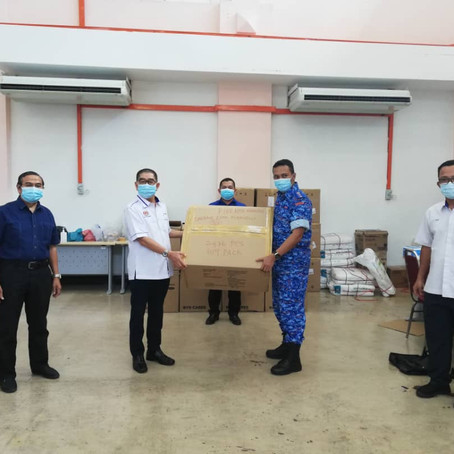 ONGKILI: Setengah juta topeng muka akan diedarkan di seluruh Sabah