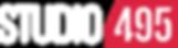 Studio 495 Logo White Text Website Banner