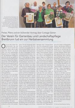 Herrschinger Spiegel Newspaper | My Cottage Garden Feature