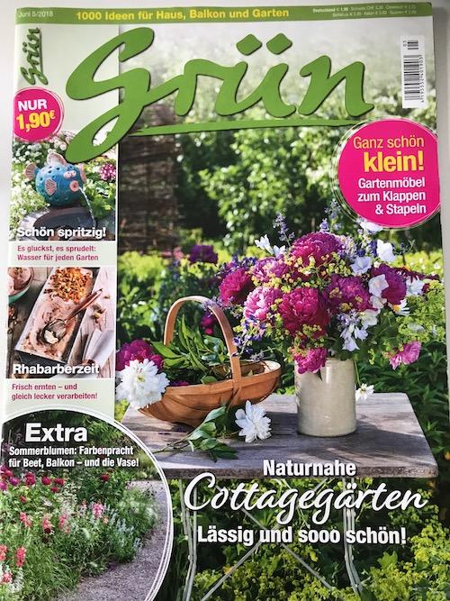 Cottage Gärten Zeitschrift Grün