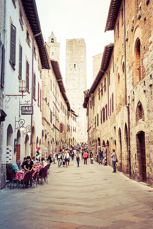 Strolling Through San Gimignano | San Gimignano Italy | Tuscany Photo Print | Tammy Riegel Photography