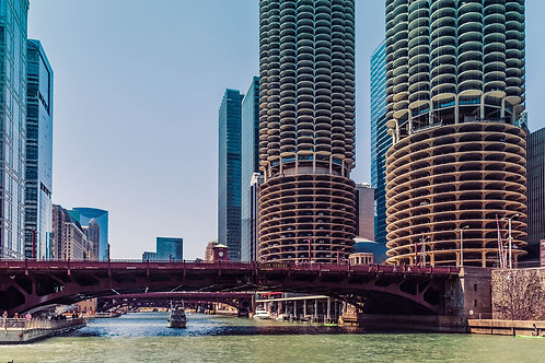 Chicago River | Chicago River and Marina Towers in Chicago | Chicago Photo Print | Tammy Riegel Photography