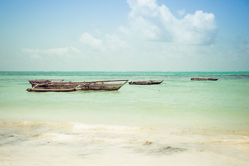 Zanzibar Outrigger | Outrigger Canoes in Zanzibar Tanzania | Ocean Photo Prints | Tammy Riegel Photography