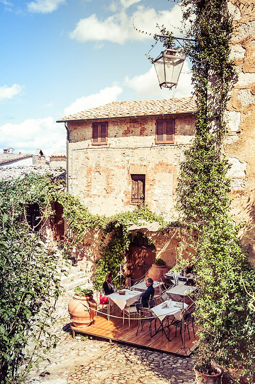 Lunch in Tuscany | A Restaurant in Tuscany Italy | Tuscany Photo Print | Tammy Riegel Photography
