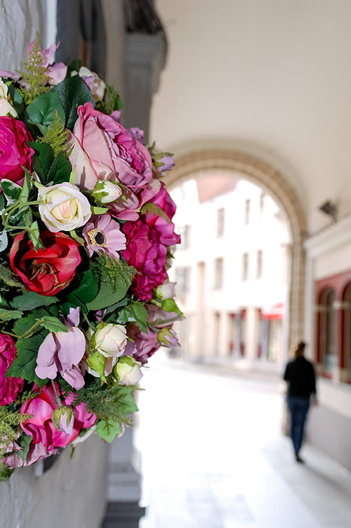Roses in Bruges | Bouquet of Roses in a Tunnel in Bruges Belgium | Flower Photo Print | Tammy Riegel Photography