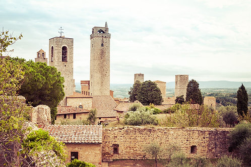 Medieval Landscape   San Gimignano Italy   Tuscany Photo Print   Tammy Riegel Photography