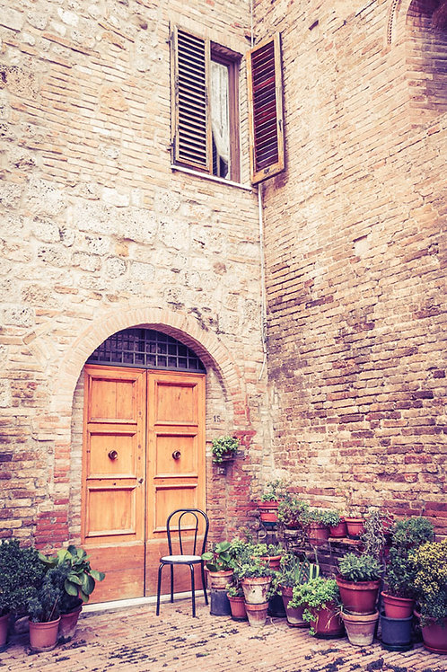 A Corner in Tuscany | A house in San Gimignano Italy | Tuscany Photo Print | Tammy Riegel Photography