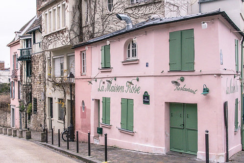 Pink House of Paris | Pink House in Montmartre | Paris Photo Print | Tammy Riegel Photography