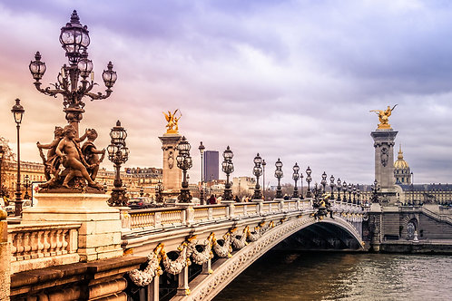 Paris Bridge | Pont Alexandre III Bridge | Paris Photo Print | Tammy Riegel Photography