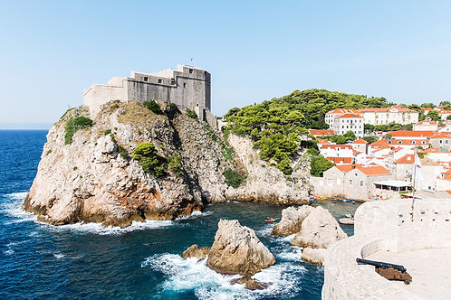 Castle by the Sea | Fort Lovrijenac in Dubrovnik Croatia | Croatia Photo Print | Tammy Riegel Photography
