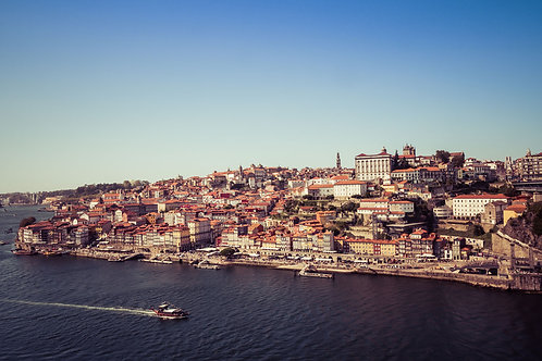 Porto Views | Duoro River and the Porto Skyline | Portugal Photo Print | Tammy Riegel Photography