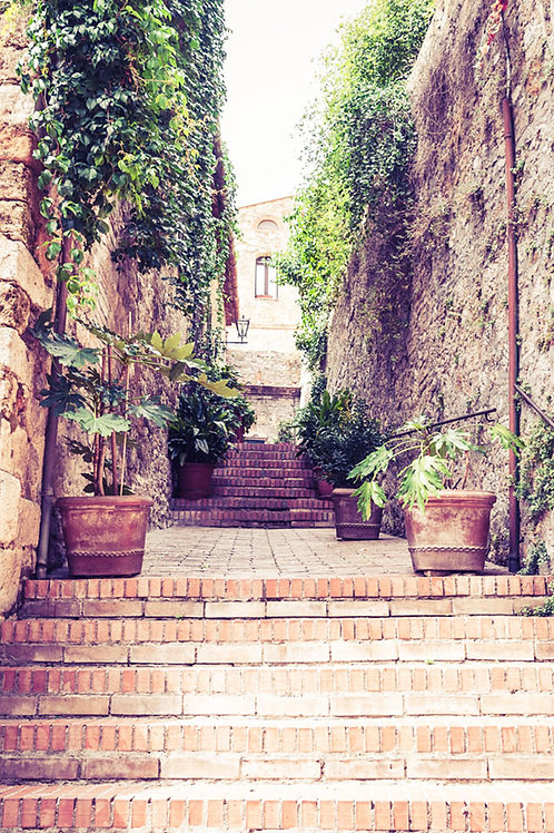 Stairway to Tuscany | A Stairway in San Gimignano Italy | Tuscany Photo Print | Tammy Riegel Photography