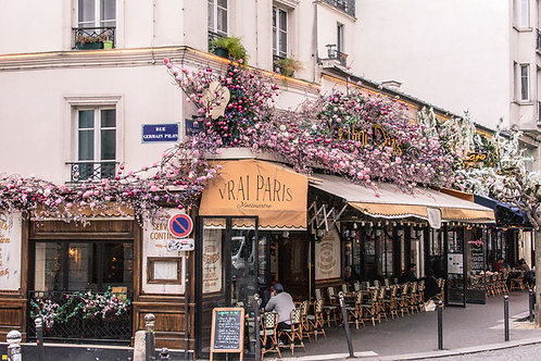 Paris Cafe | Cafe in Montmartre Paris France | Paris Photo Print | Tammy Riegel Photography