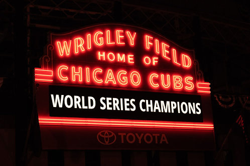 Miracle Cubs | Wrigley Field Marque World Series Champions | Chicago Photo Print | Tammy Riegel Photography