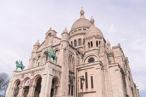 Sacre Coeur Rising | Sacre Coeur in Paris France | Paris Photo Print | Tammy Riegel Photography