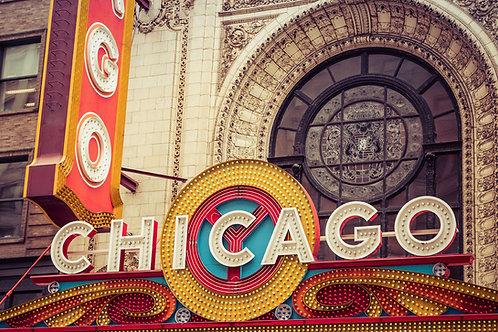 Chicago Theater | Chicago Theater Sign | Chicago Photo Print | Tammy Riegel Photography