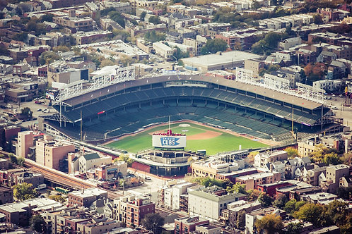 Wrigley Field | Aerial View of Wrigley Field in Chicago | Chicago Photo Print | Tammy Riegel Photography