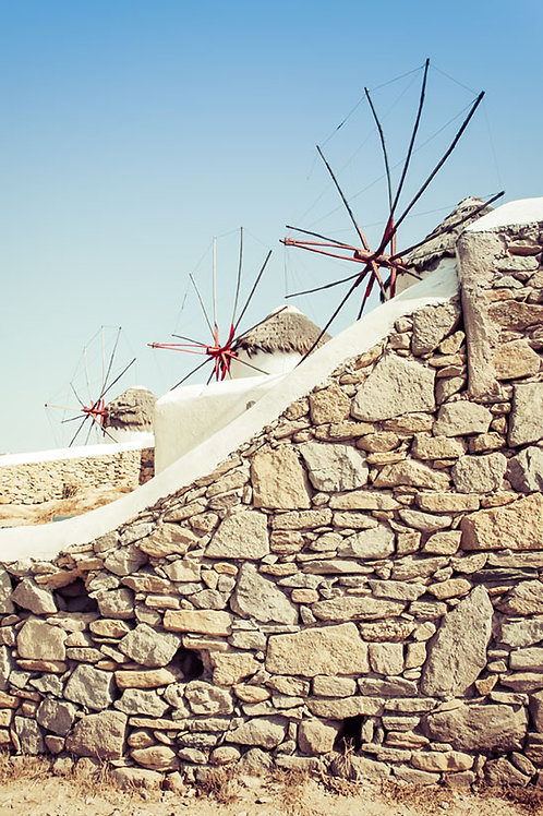 Windmills of Mykonos | Windmills in Mykonos Greece | Greece Photo Print | Tammy Riegel Photography