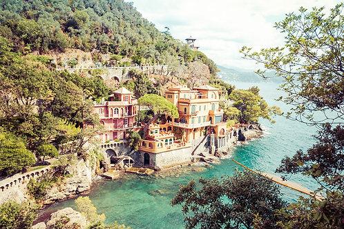 Home by the Sea | Seaside villas near Portofino Italy | Cinque Terre Photo Print | Tammy Riegel Photography