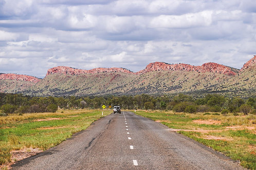 Into the Outback | Car on a road in the Australian Outback | Australia Photo Print | Tammy Riegel Photography