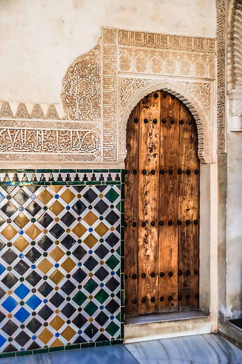 Wooden Door of Alhambra | Wood Door in Alhambra Palace | Door Photography | Tammy Riegel Photography