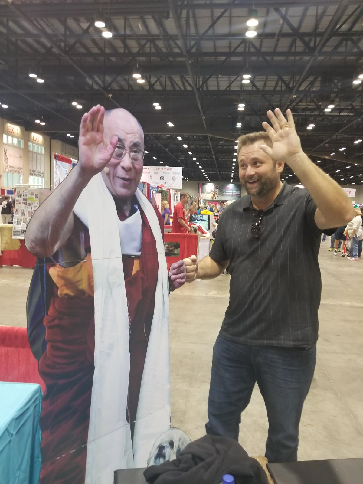 Fist Bumping the Dali Llama