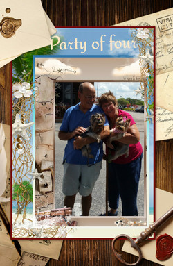Cannon Yorkie Owners Michael & Briton with their Faith and Dixie
