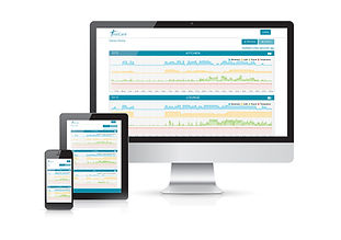 TextCare home monitoring online portal on desktop, tablet and mobile phone