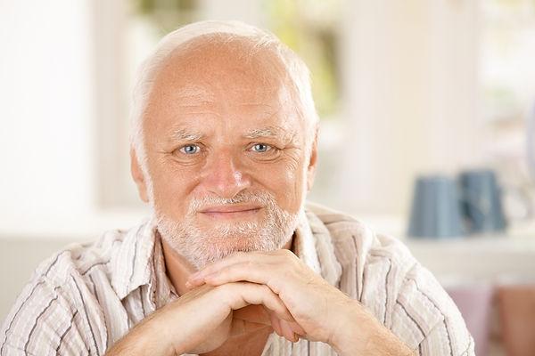 Elderly man living alone with dementia