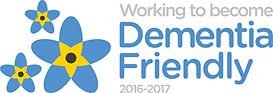 Working to become dementia friendly 2016-2017 logo