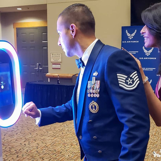 air force ceremony photo booth