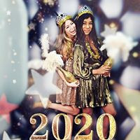 New Year's party photo booth